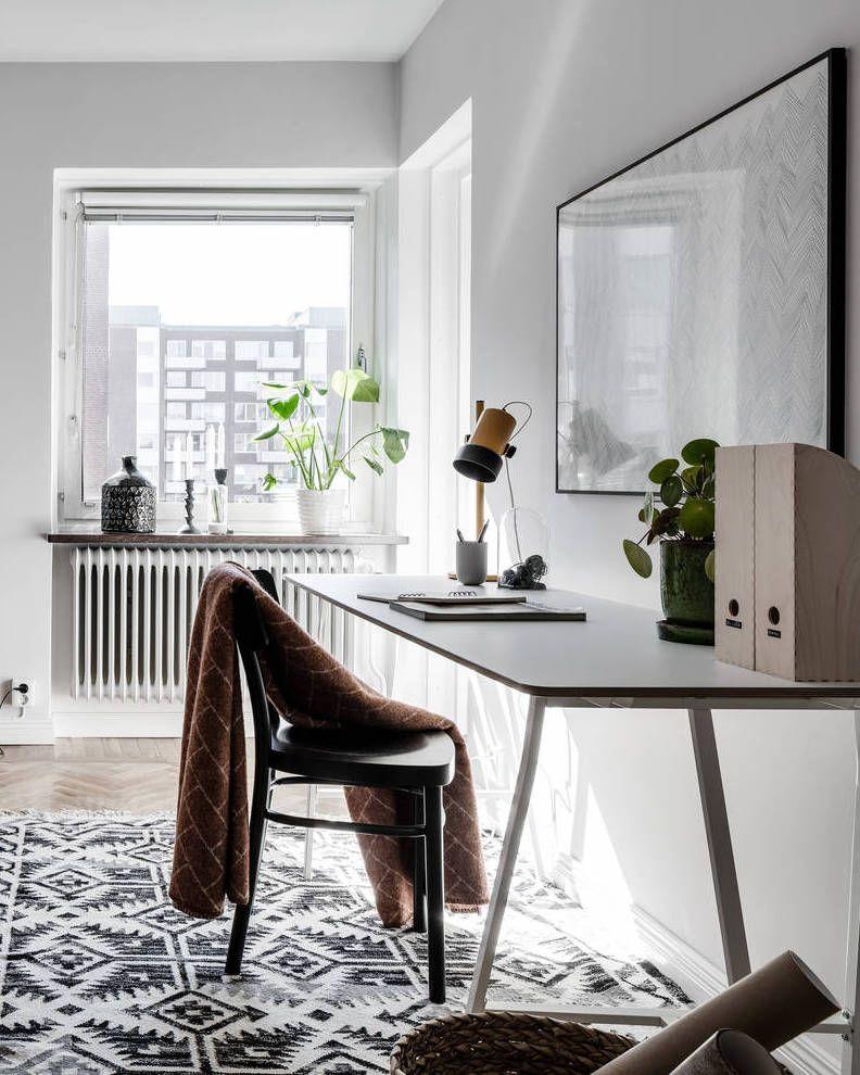 Home Office Decor, Interior, Grey