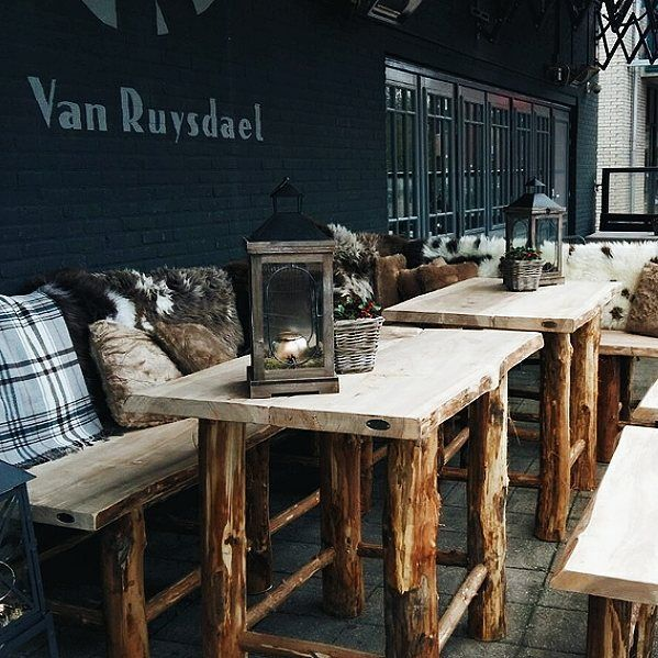 Early diner with my dad in a the grand café Van Ruysdael in the ...