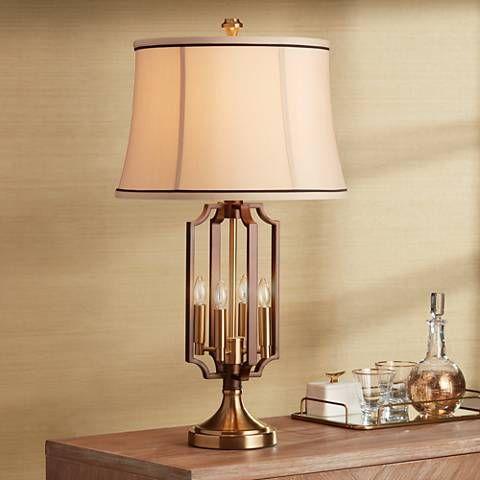 Margo brass 4 light nightlight table lamp