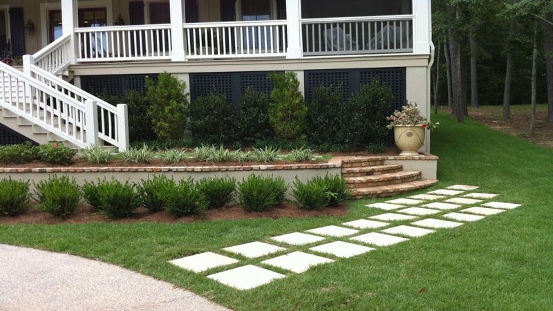 Chris Francis #Landscapes Stepping Stone Path in Grass : Green Outdoor #Lighting