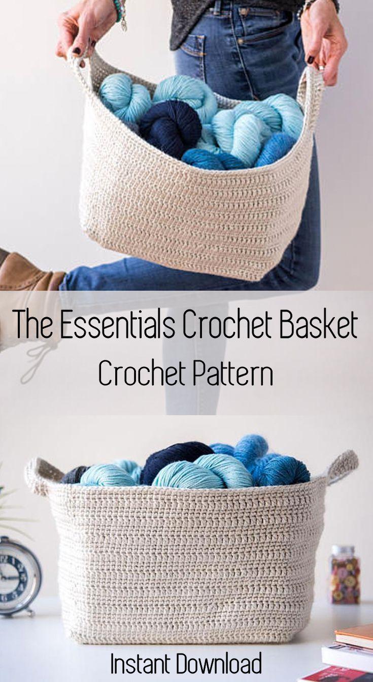 Crochet Pattern ~ Essentials Basket ~ Crochet Pattern | crochet ...