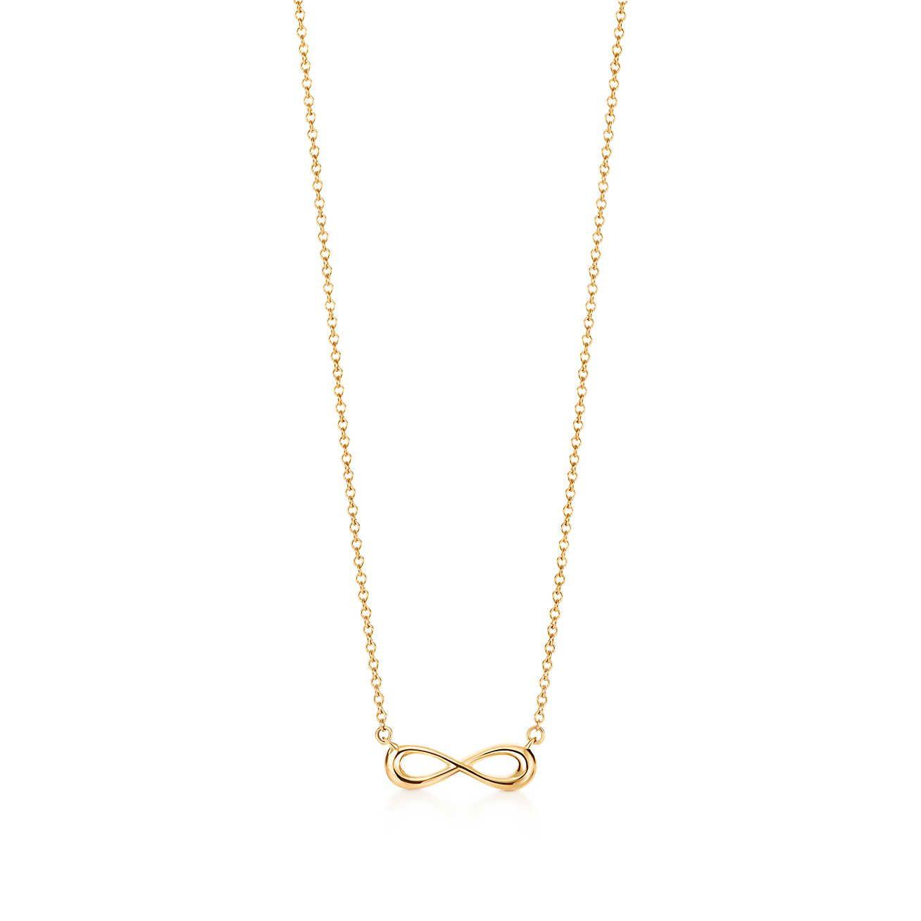 9a3e345b74f0 Tiffany Infinity pendant in 18k gold