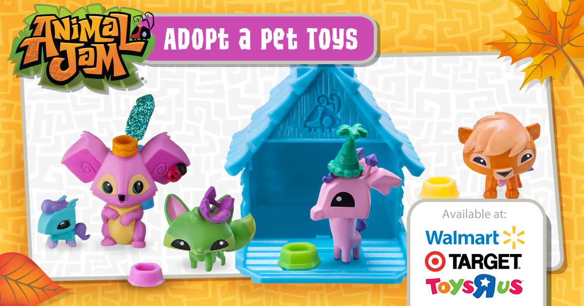 Celebrate The Fun Of Autumn With Animal Jam Adopt A Pet Toys Can