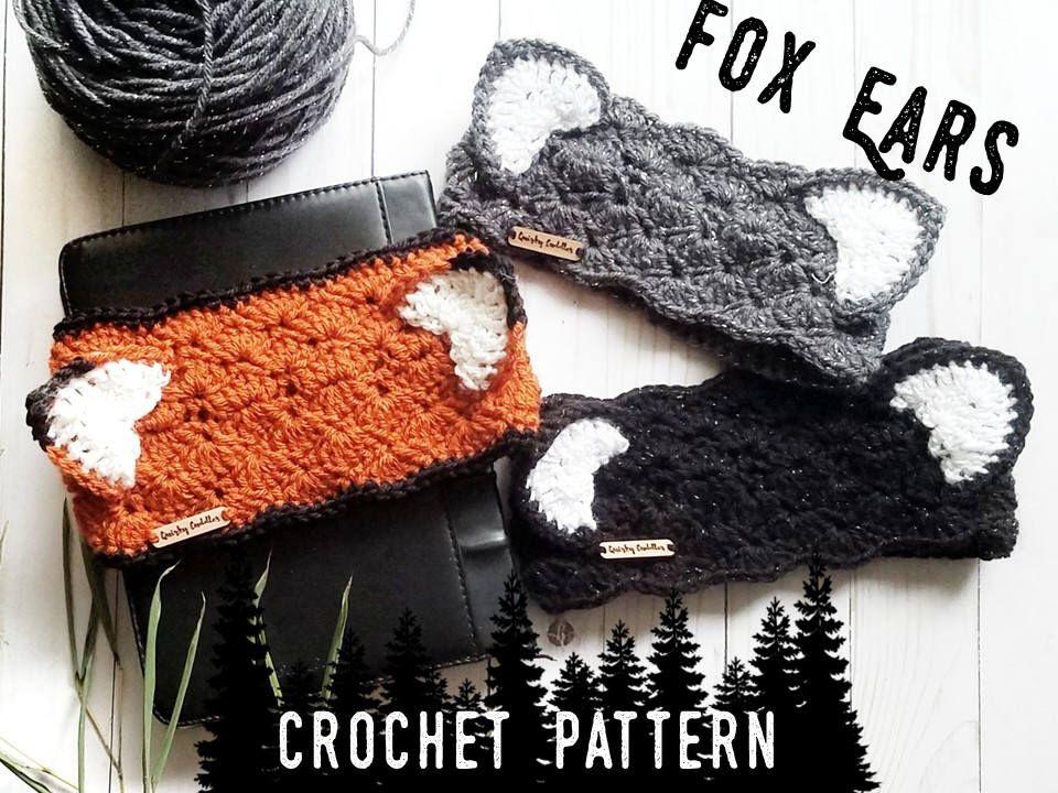 DIY Christmas Gift Crochet Pattern - Fox Ear Headband - Animal Ears ...
