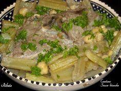 Tajine khorchef ou cardons en sauce blanche