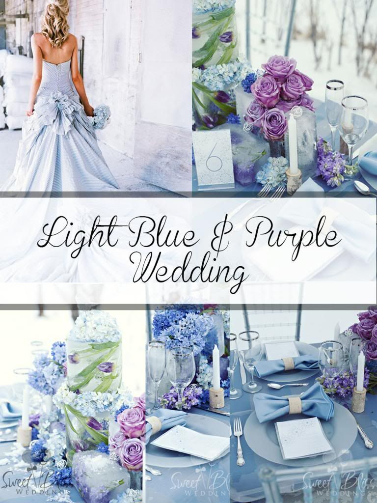 Gorgeous Sigh Purple And Blue And Silver Wedding Palette