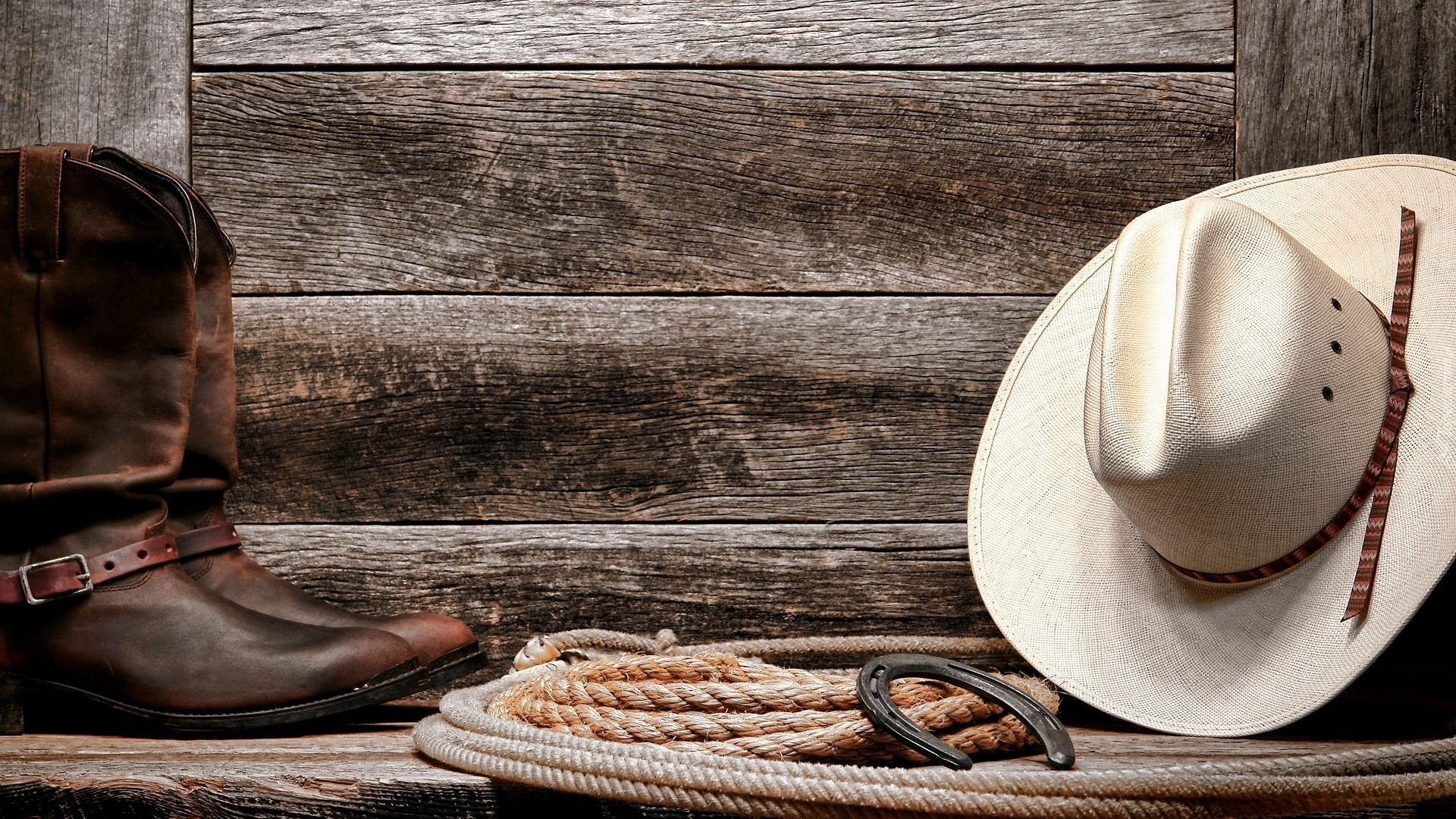 Kompozycja Kowboj Buty Kapelusz Podkowa Lasso Cowboy Hats Cowboy Straw Cowboy Hat