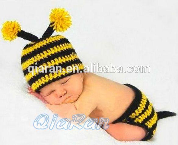 baby häkeln hummel Hut und windel Outfit Neugeborene ...