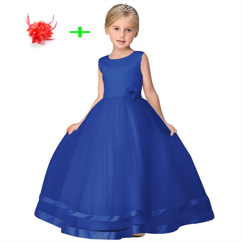 little girls ball gown blue pink red beige purple prom