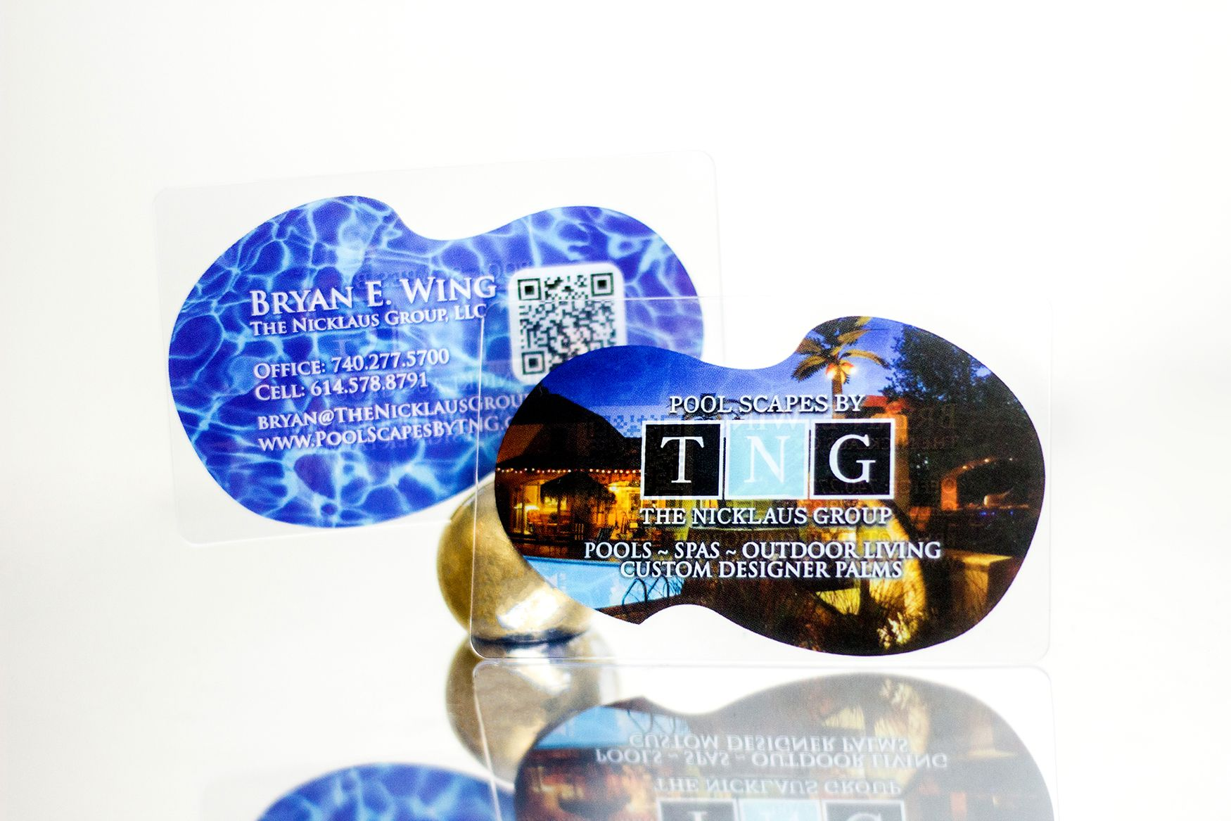 creative transparent business cards for pool and spa professionals ...
