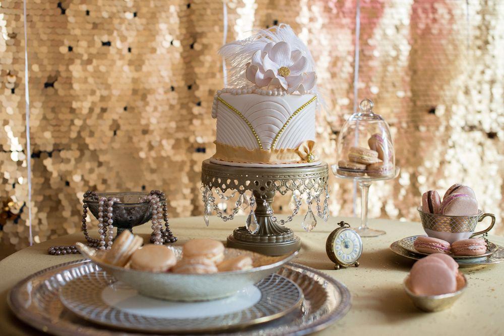 1920's wedding decor - cake table, reception decor