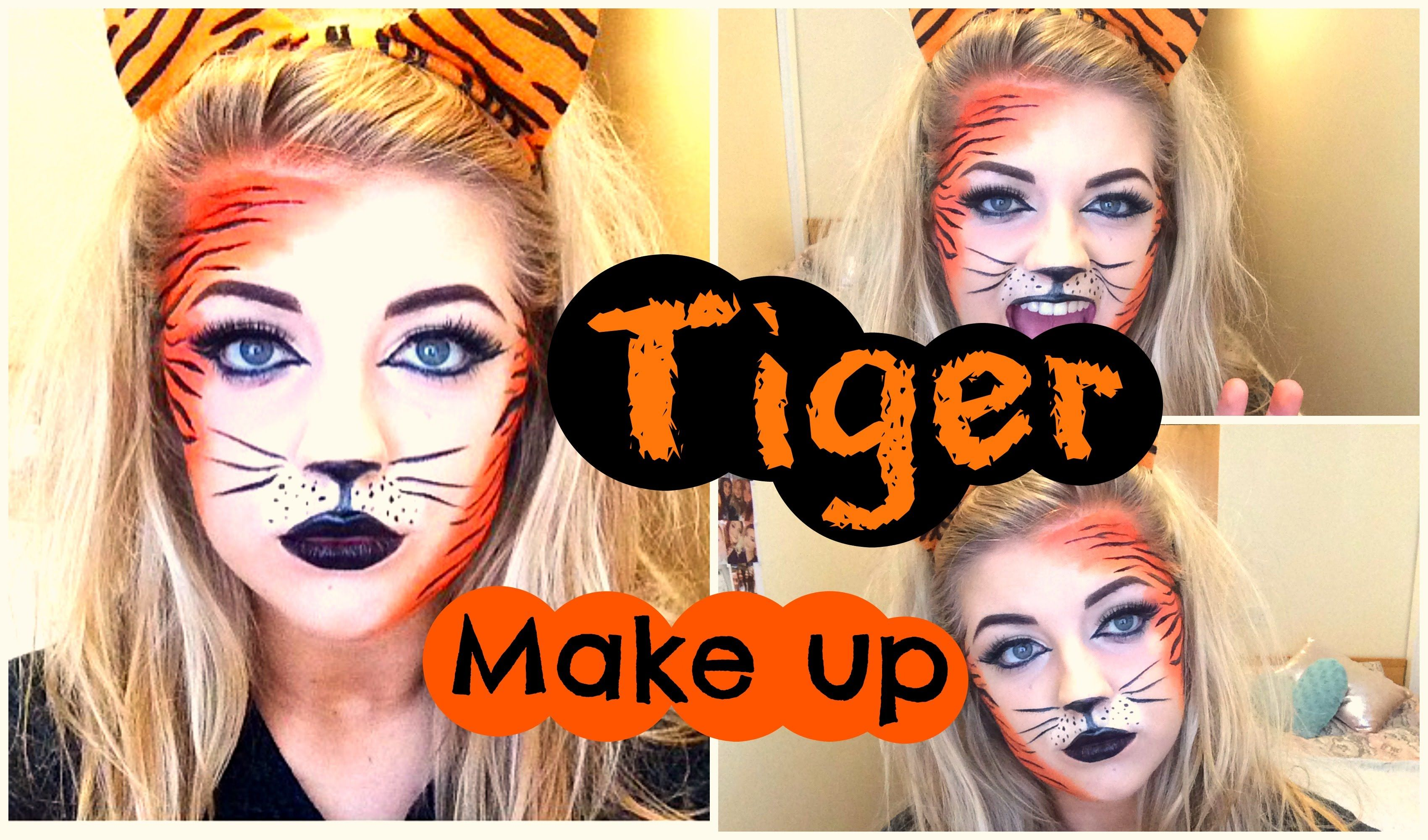 halloween tiger makeup tutorial halloween pinterest