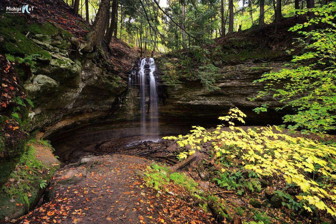 Gently flowing Tannery Falls, Munising, Michigan