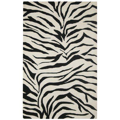 Rizzy Home Volare Black/Ivory Zebra Print Rug