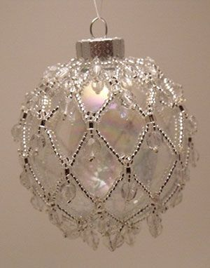 Seed Bead Christmas Ball Ornament Google Search Beaded