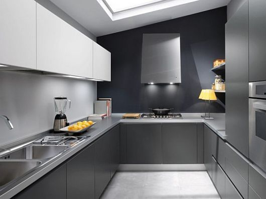 small space solutions: hidden kitchen from minosa design | gray