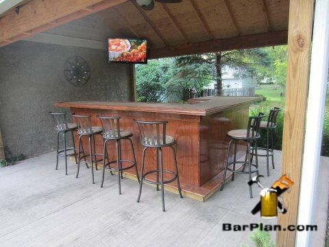 Outdoor Pavilion Wet Bar Layout