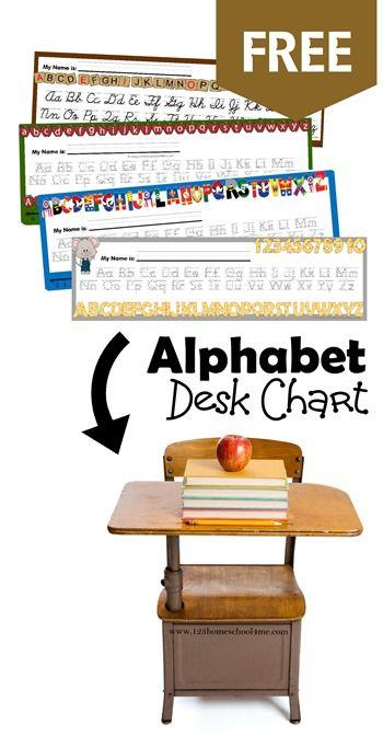 FREE Alphabet Desk Chart Living Life Intentionally