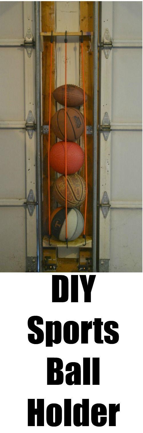 Diy Sports Ball Holder Garage Decor Garage Organization Diy Garage