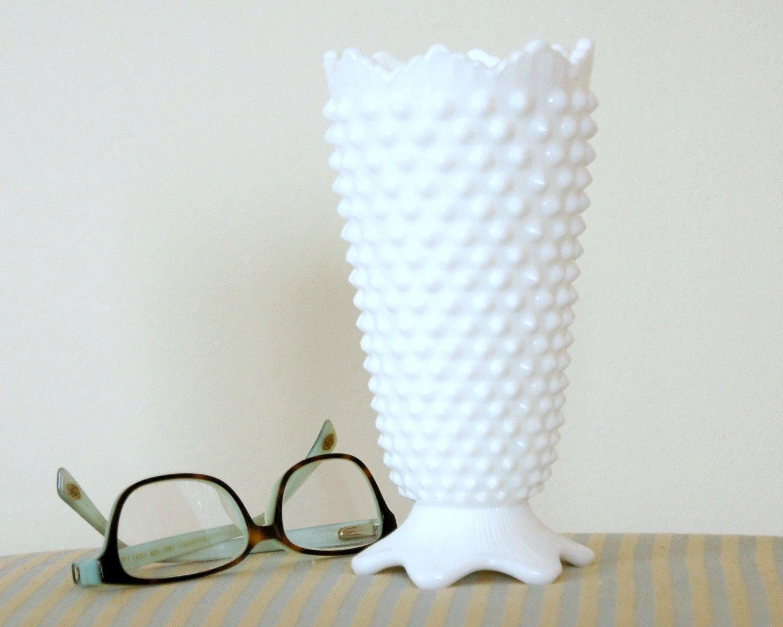 Milk glass vase vintage fenton hobnail white vase 7 inches tall milk glass vase vintage fenton hobnail white vase 7 inches tall crown floridaeventfo Choice Image