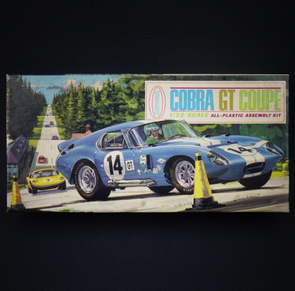 Vintage 1965 Aurora COBRA GT COUPE 1/32 Scale Plastic