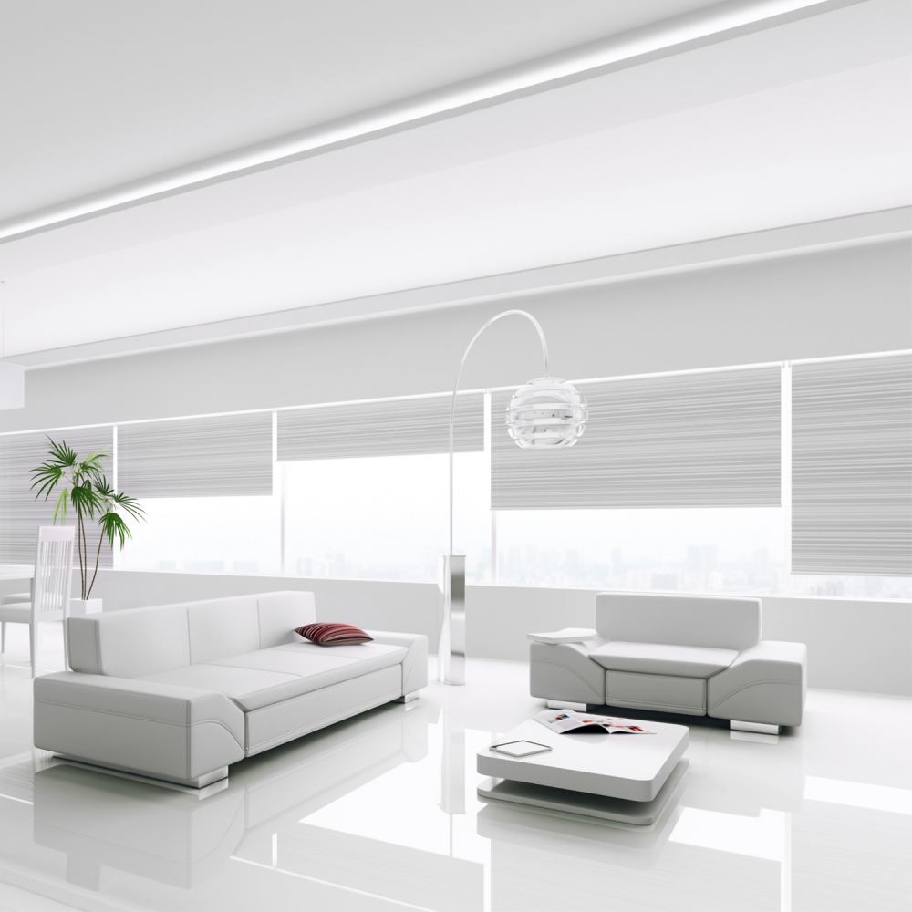 Falquon Flooring High Gloss Flat Edge White Laminate D2935