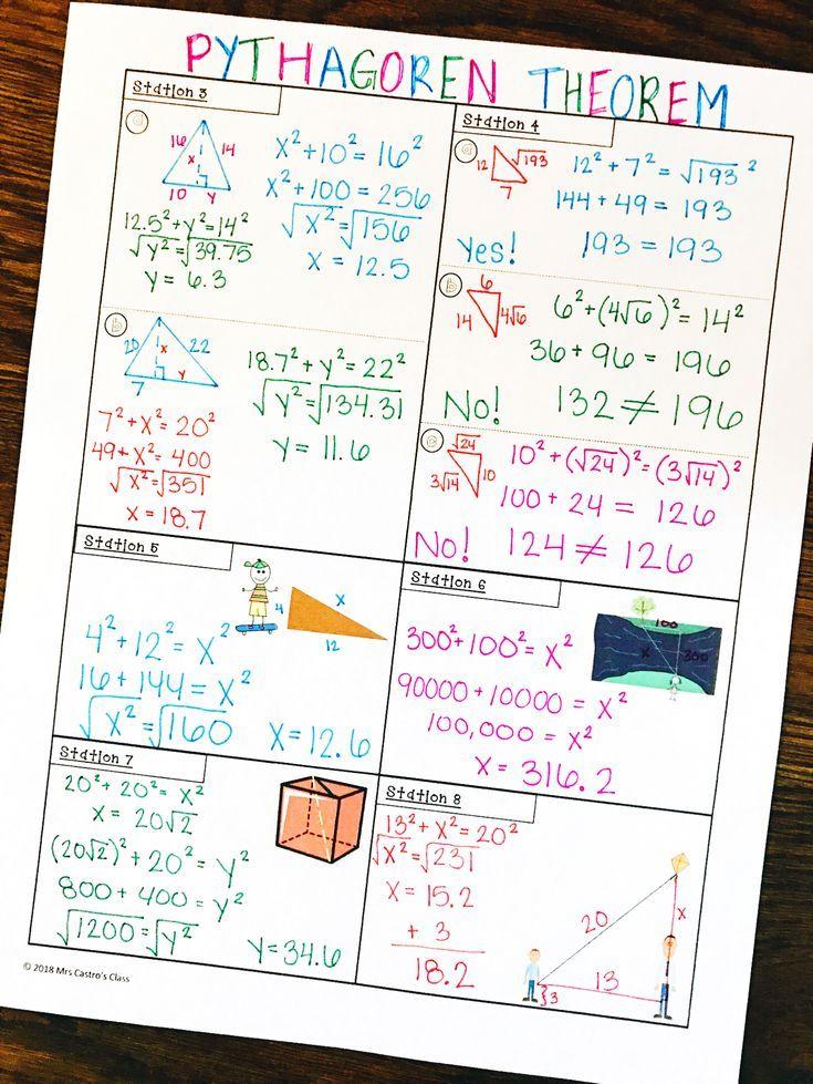 Fresh Ideas - Pythagorean Theorem Stations Activity Pythagorean