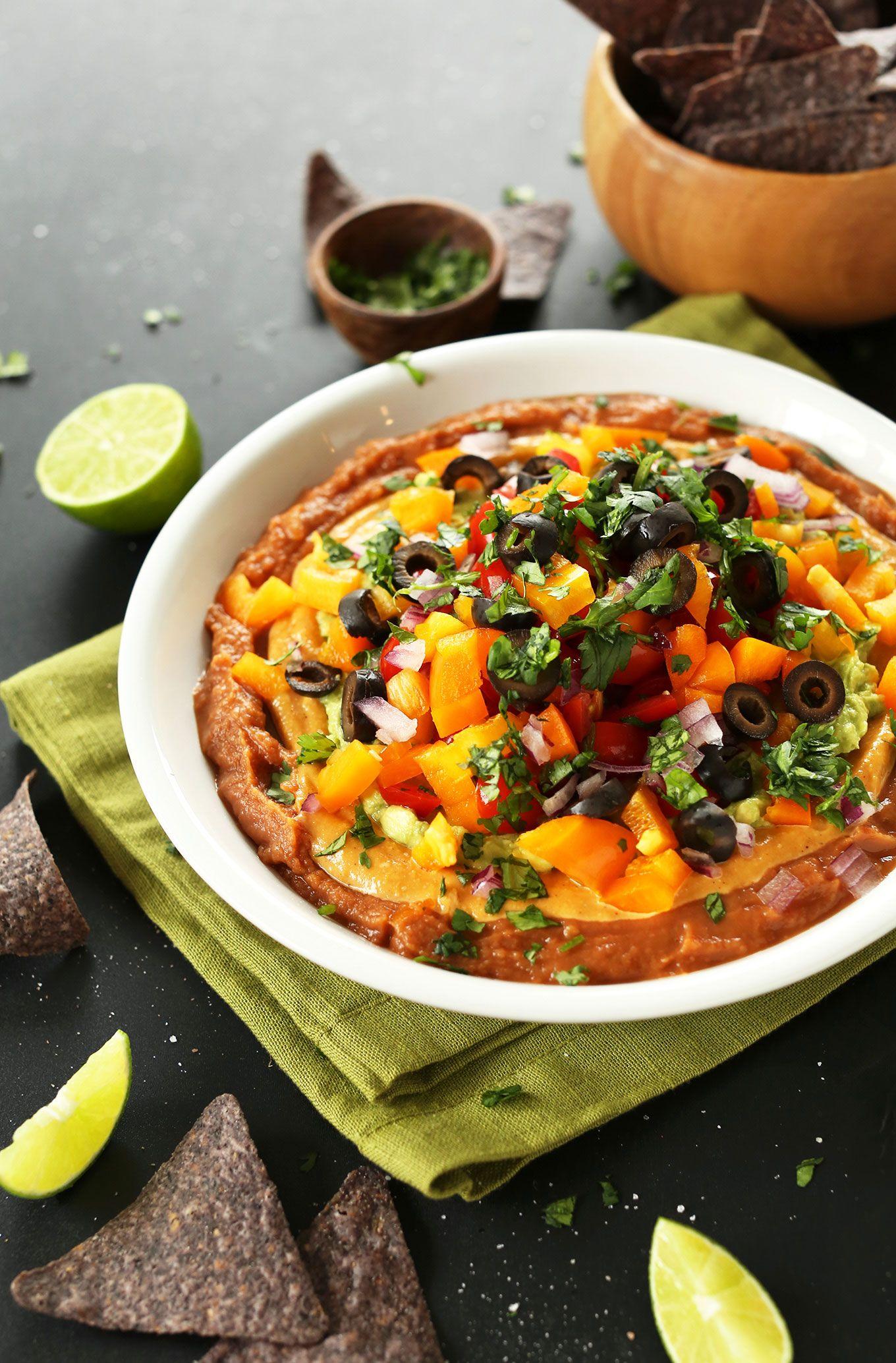 Vegan 7Layer Mexican Dip Recipe Healthy vegan snacks