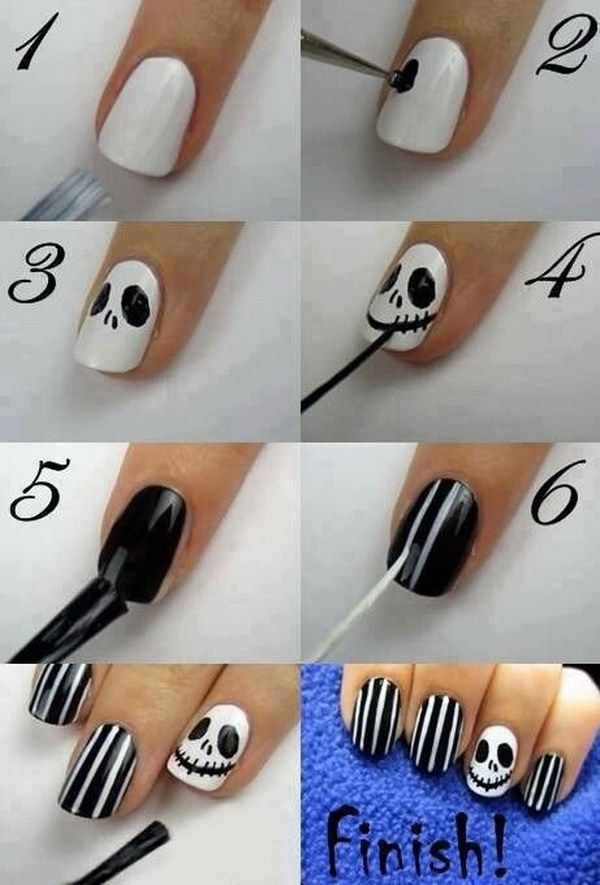 DIY Halloween Nail Art Designs with Step-by-Step Tutorials | Jack ...