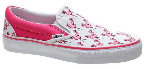 458ed11e85e72 Vans Classic Slip On True White/Neon Pink Pink Flamingos Shoe 58566 ...