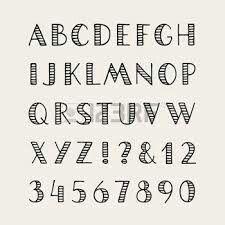 Hand lettering alphabet.