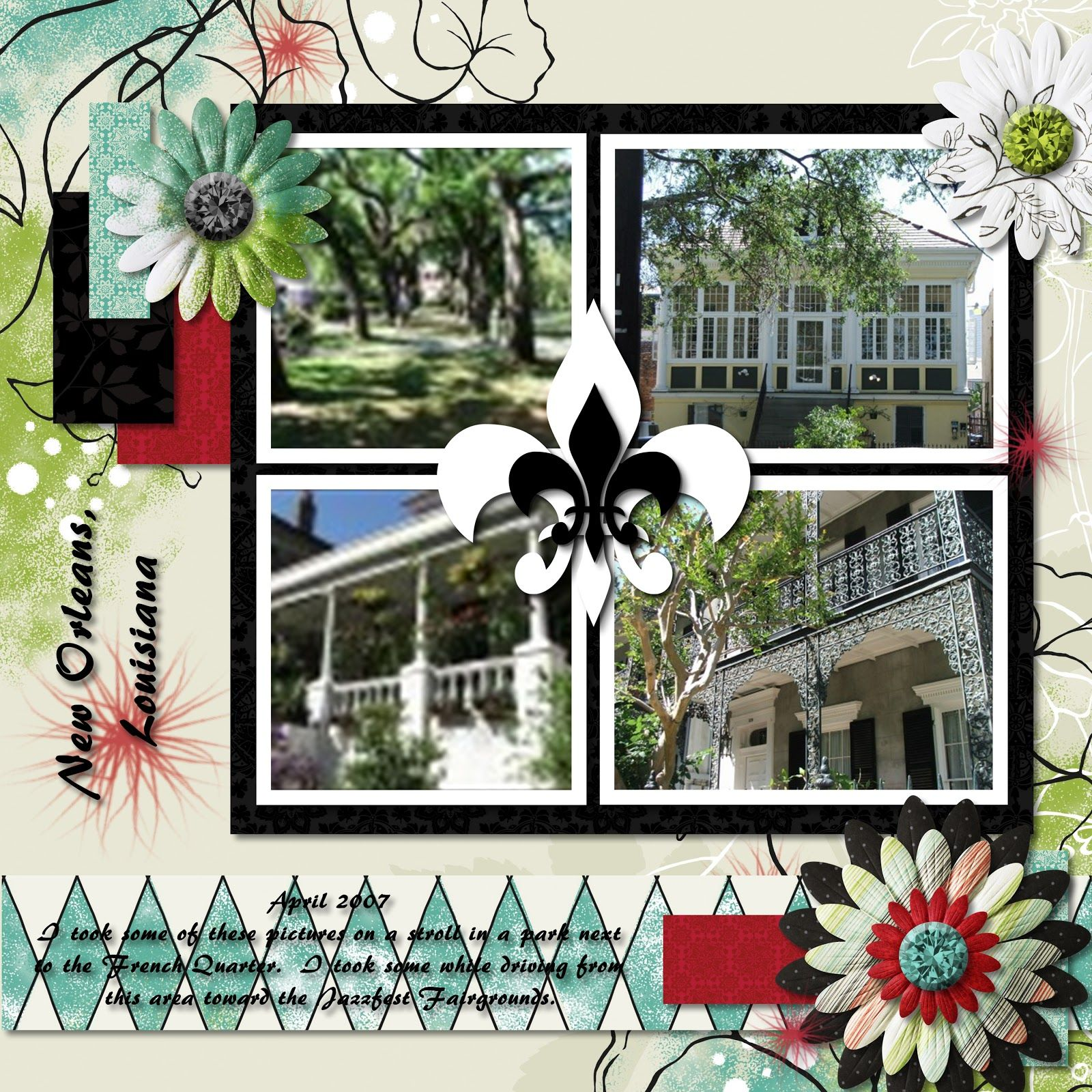 Scrapbook ideas new orleans - Enchanted Digital Layout Of New Orleans