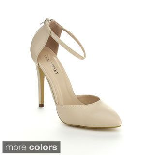 48.50 Annie Pinky Women's Closed Toe D'Orsay Ankle Strap Heels ...