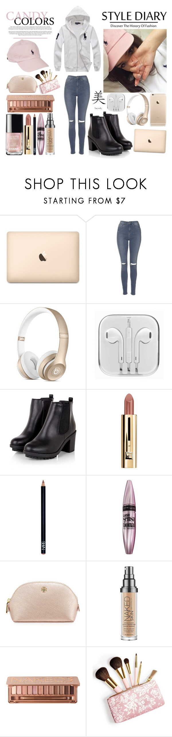"""""""Alicia Jiroux ♥"""" by laceyjenner ❤ liked on Polyvore featuring Ralph Lauren, Topshop, MANGO, Maybelline, Tory Burch, Urban Decay and AERIN"""