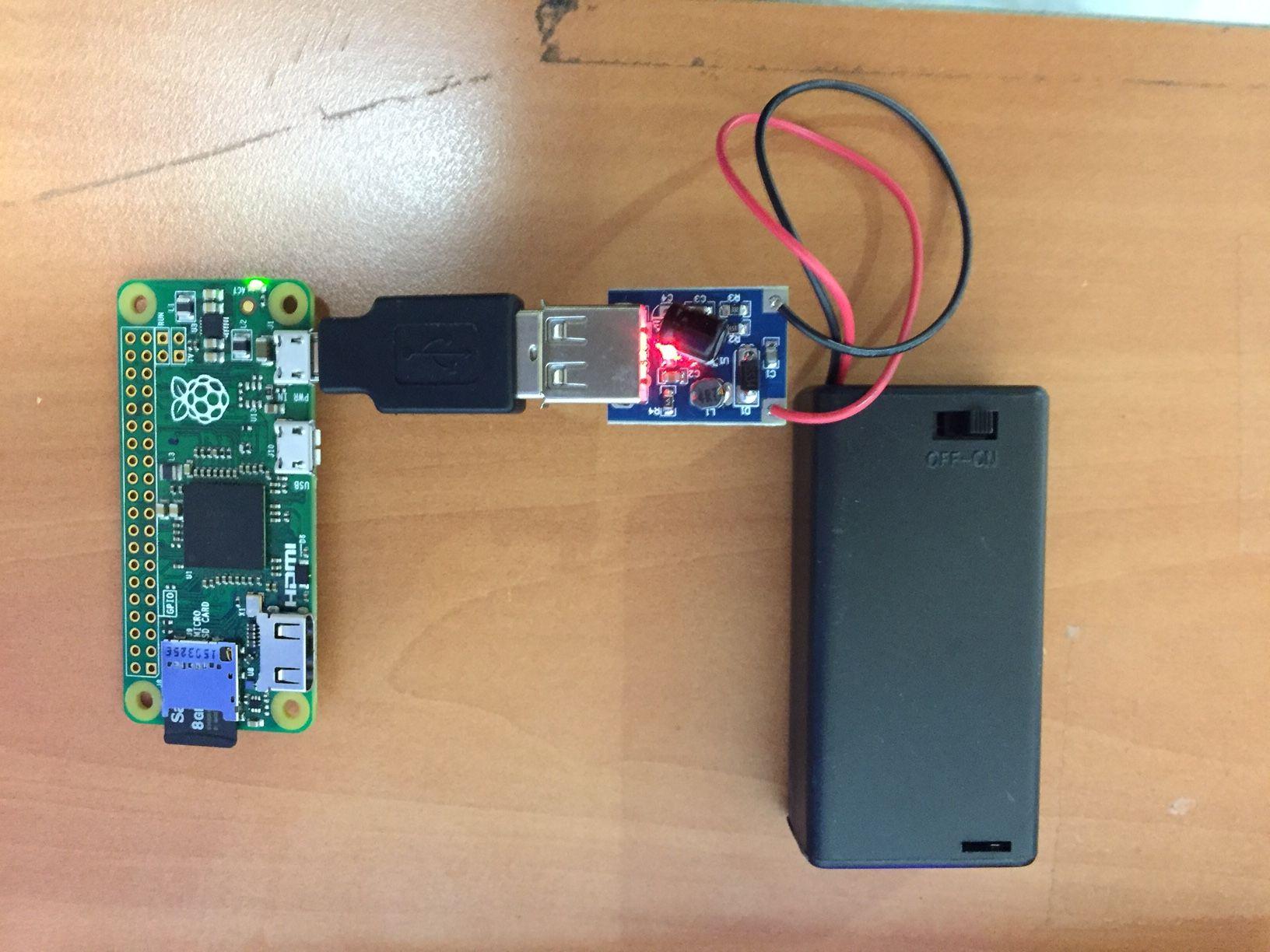 Modmypi Running A Raspberry Pi Zero From An Aa Battery Pack