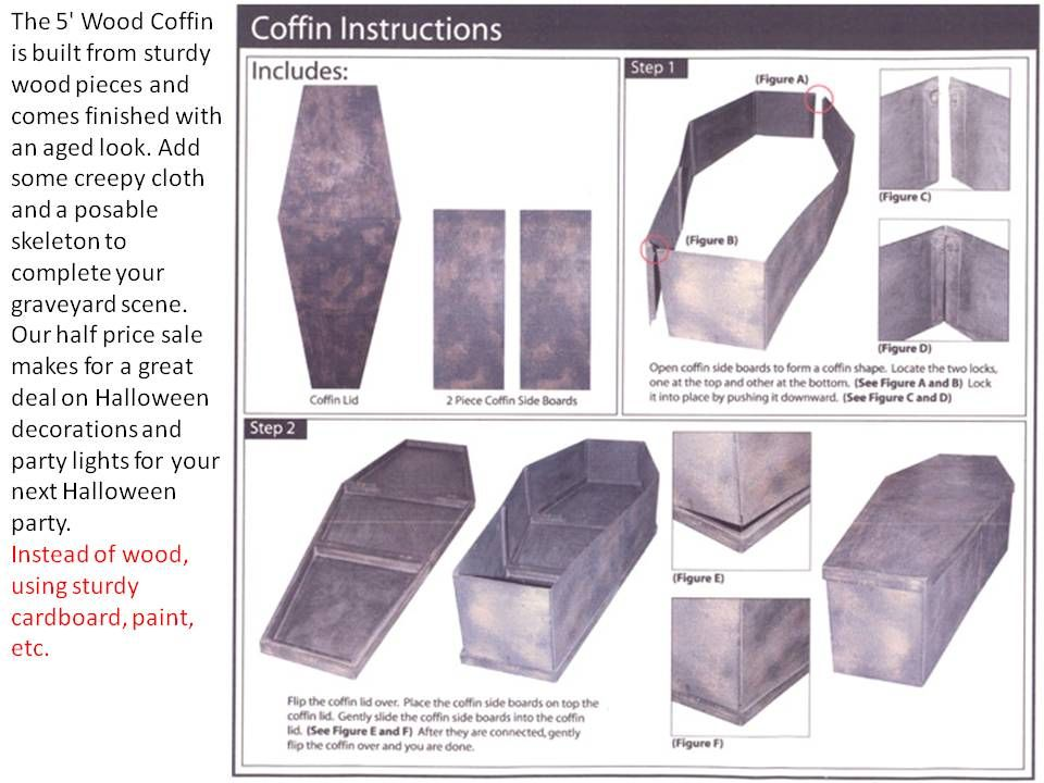 How To Make A Coffin Wood Or Cardboard Instructions