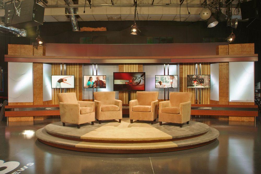 TVstudios6.jpg (1000×667) Tv set design, Stage set