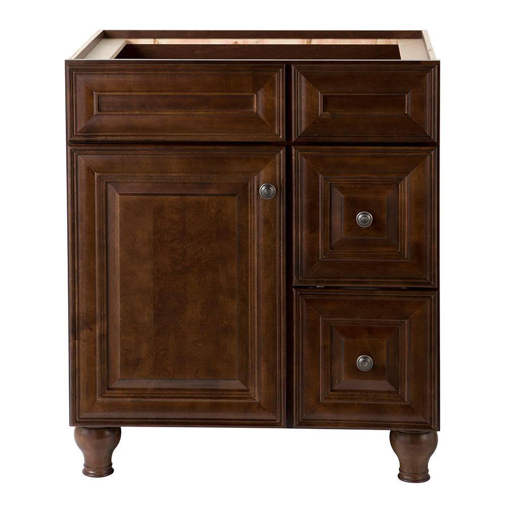 Home Decorators Collection Templin 30 In. Vanity Cabinet In  Coffee 19DVSDB30   The Home Depot