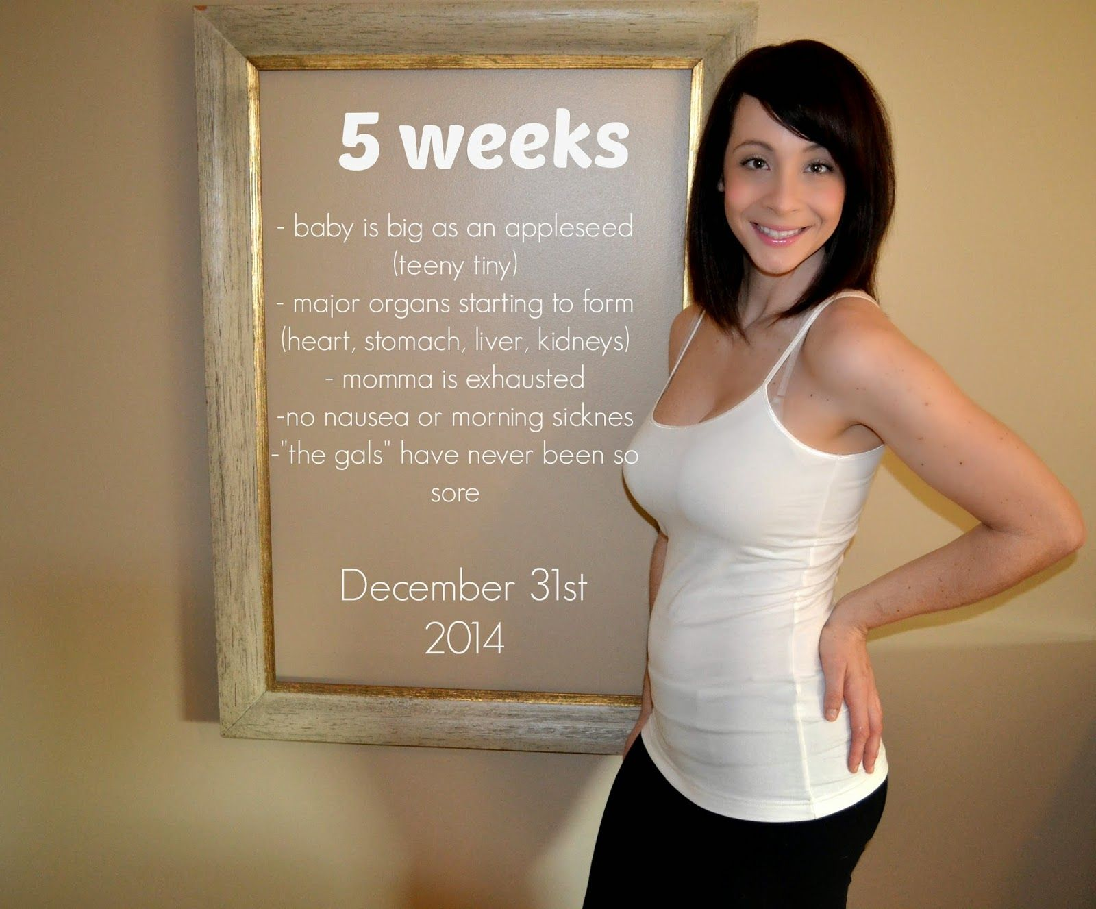 4 Weeks Pregnant Days 5 Belly