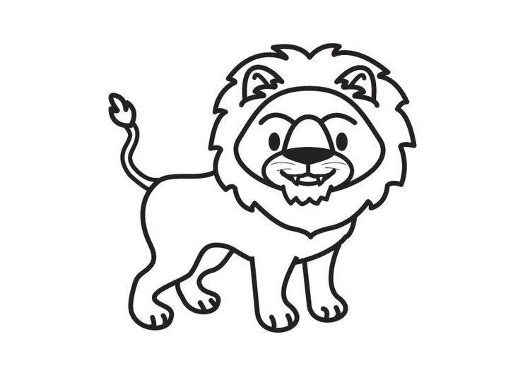 Kleurplaat Leeuw Babykamer Pinterest Lion And Baby