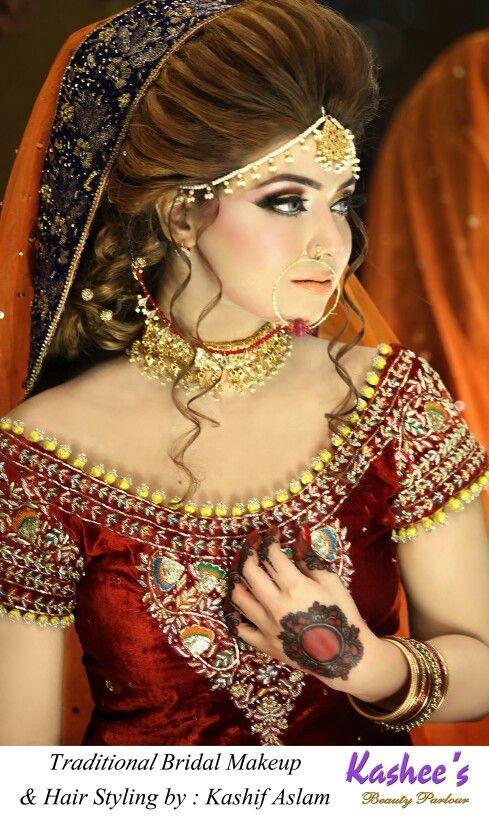 Glamorous Makeup N Hairstyling By Kashif Aslam At Kashee S Beauty Parlour Pakistani Bridal Makeup Pakistani Wedding Hairstyles Pakistani Bride