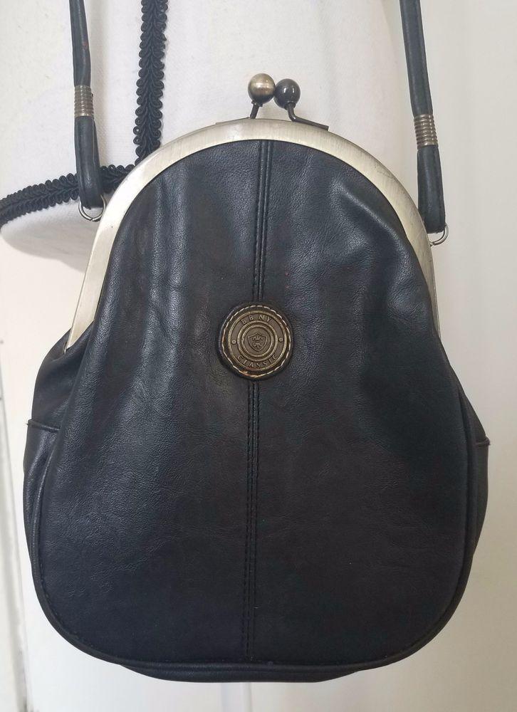 Bag Bazaar Ny Bbny Leather Black Purse Handbag Satchel Clasp Crossbody Small Bagbazaar Crossbodysatchel