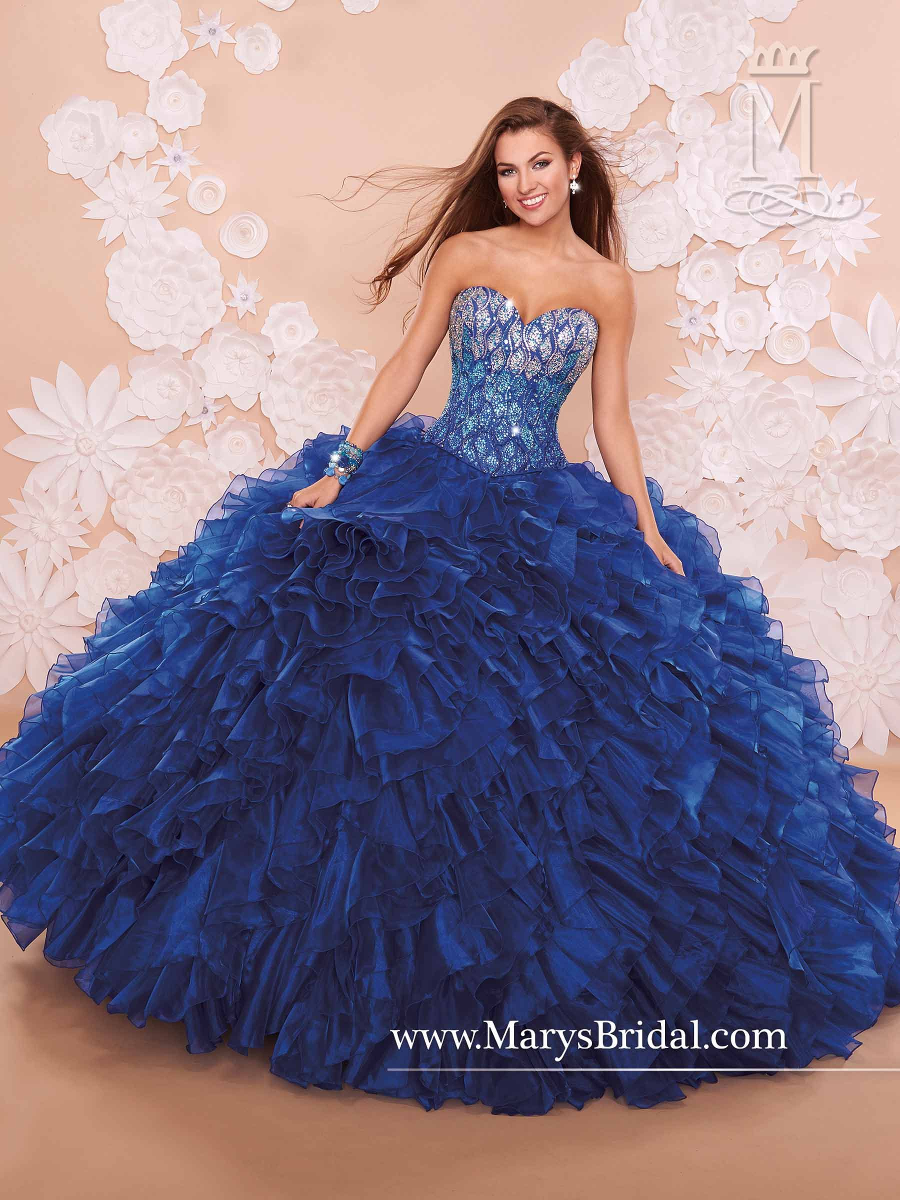 8263a52dd00 2 piece strapless organza Navy Blue Quinceanera Dresses