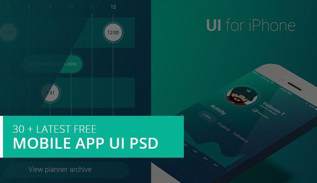 30 + Latest Free Mobile App UI PSD Designs » CSS Author | UI/UX ...