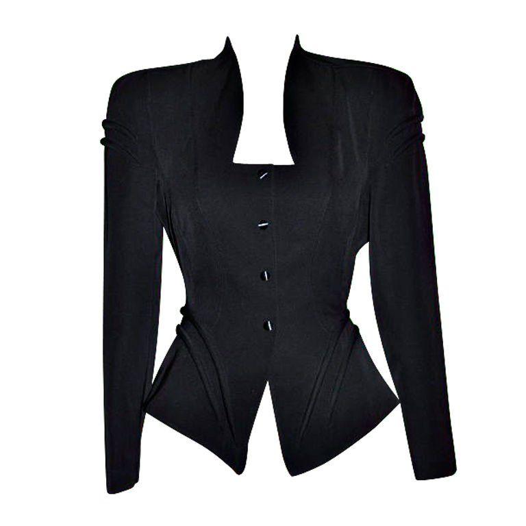 Thierry Mugler Black  snap jacket 1