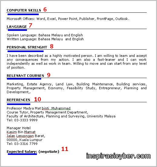 Resume Kerja Mohd Mahathir Bin Sepandi Resume