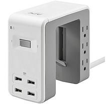 Apc Multi Use 6 Outlet With 4 Port 4 8a Usb Charger Apc Usb Wall Outlets