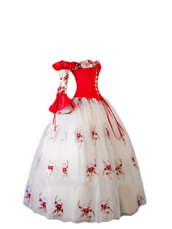 Snow-White or Rose-Red Gown | Gowns | Pinterest | Red gowns, Snow ...