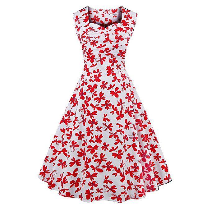 Amazon.com: zaful 1950s Retro de la mujer, diseño floral clásico Cap ...