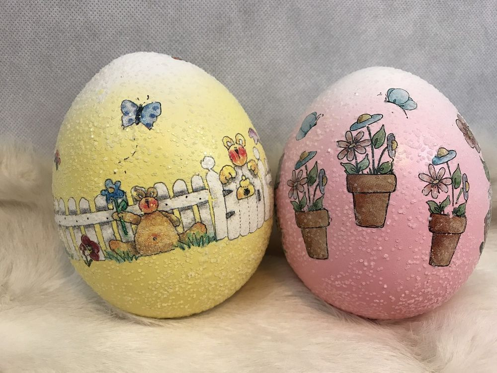 Vintage pink yellow decorative ceramic easter eggs collectibles vintage pink yellow decorative ceramic easter eggs collectibles gifts collectibles holiday seasonal negle Image collections